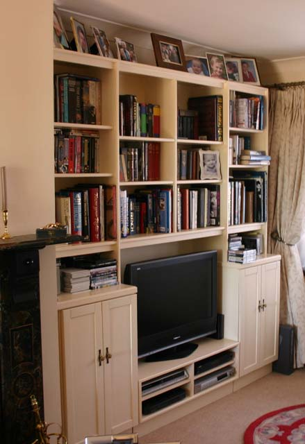 A home for books, discs and the TV system