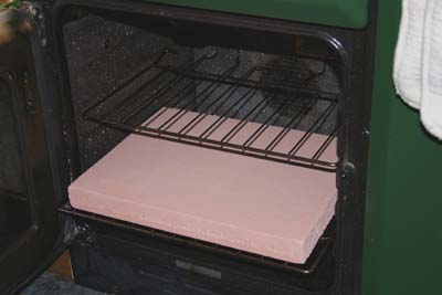 The baking stone in our range-cooker's oven