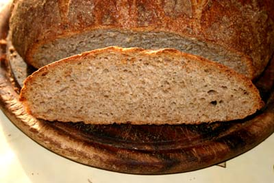 A peek inside the 31 March 2011 loaf.