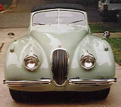 Front view of XK120
